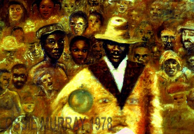 A view of Garvey and his followers by the visionary artist OSSIE MURRAY.
